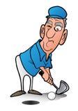 Mężczyzna bawić się golfa royalty ilustracja