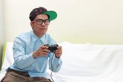 Mężczyzna bawić się gry Zdjęcie Stock