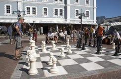Mężczyzna bawić się szachy Zdjęcie Stock
