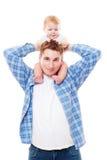 Mężczyzna bawić się z jego synem Zdjęcie Royalty Free