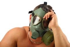 mężczyzna benzynowa maska Fotografia Royalty Free