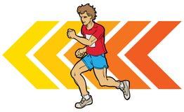 mężczyzna bieg Fotografia Royalty Free