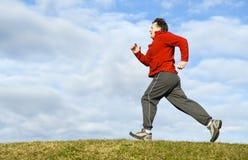 mężczyzna bieg Zdjęcie Stock
