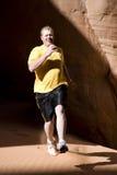 mężczyzna bieg piasek Obraz Royalty Free