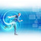 Mężczyzna w błękitnym środowisku Obraz Stock
