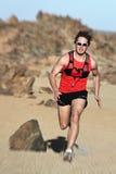 mężczyzna biegacza bieg Obrazy Royalty Free