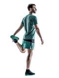 Mężczyzna biegacza jogger bieg obrazy royalty free