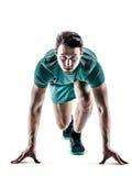 Mężczyzna biegacza jogger bieg zdjęcia stock