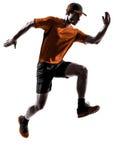 Mężczyzna biegacza jogger bieg jogging skakać Zdjęcie Royalty Free