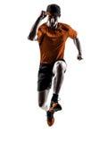 Mężczyzna biegacza jogger bieg jogging skakać Fotografia Royalty Free