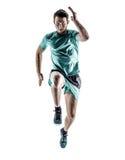 Mężczyzna biegacza jogger bieg odizolowywający zdjęcia stock