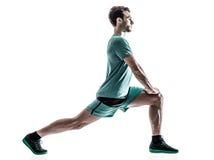 Mężczyzna biegacza jogger bieg odizolowywający obraz stock
