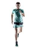Mężczyzna biegacza jogger bieg odizolowywający zdjęcie stock