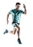 Mężczyzna biegacza jogger bieg odizolowywający zdjęcie royalty free