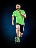 Mężczyzna biegacza jogger działający jogging odizolowywam zdjęcia royalty free