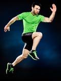 Mężczyzna biegacza jogger działający jogging odizolowywam Obraz Stock