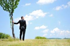 Mężczyzna biznesowa Pozycja zdjęcie royalty free