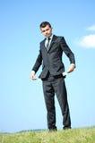 Mężczyzna biznesowa Pozycja Fotografia Stock