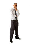 mężczyzna biznesowa przystojna pozycja Zdjęcia Royalty Free