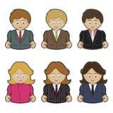mężczyzna biznesowe kobiety ilustracji