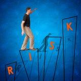 mężczyzna biznesowy przyglądający sukces wyzwanie Zdjęcia Stock