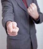 mężczyzna biznesowy robi zagrożenie Zdjęcia Royalty Free