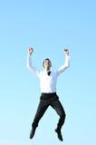 Mężczyzna biznesowy skok Zdjęcie Royalty Free