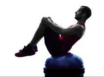 Mężczyzna bosu równowagi trener ćwiczy sprawności fizycznej sylwetkę Zdjęcia Royalty Free