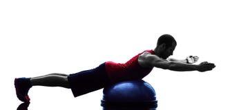 Mężczyzna bosu równowagi trener ćwiczy sprawności fizycznej sylwetkę Obrazy Royalty Free