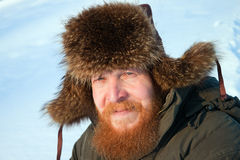 mężczyzna brodaty portret Zdjęcia Royalty Free