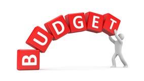 Mężczyzna buduje budżet Obrazy Stock