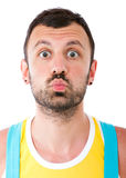 Mężczyzna buziaka wyrażenie Zdjęcie Stock