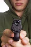 Mężczyzna celuje pistolet Obrazy Stock