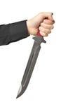 Mężczyzna chwyta nóż - agresja Obrazy Royalty Free