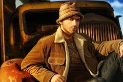 mężczyzna ciężarówka Zdjęcie Stock