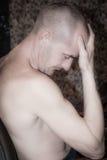 mężczyzna cierpienie Zdjęcia Royalty Free