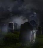 mężczyzna cmentarniana widmowa błąkanina Obrazy Stock