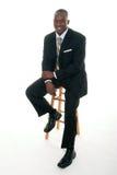 mężczyzna czarny biznesowy przypadkowy kostium Obrazy Stock
