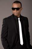 mężczyzna czarny biznesowy przystojny kostium obrazy stock