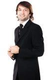 mężczyzna czarny elegancki kostium Fotografia Royalty Free