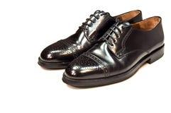 mężczyzna czarny rzemienni buty s zdjęcie stock