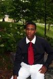 mężczyzna czerwony krawat Obraz Royalty Free