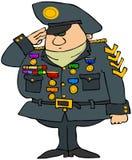 mężczyzna dekorujący wojskowy Obraz Stock