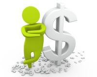 mężczyzna dolarowy bogactwo Fotografia Stock