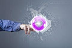 Mężczyzna dosunięcia ikona Zdjęcie Stock