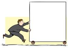 Mężczyzna dosunięcia znak Obrazy Stock
