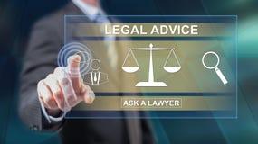 Mężczyzna dotyka porady prawnej pojęcie ilustracji