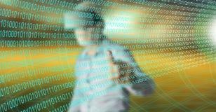 Mężczyzna dotyka technologii cyfrowej pojęcie Zdjęcie Stock
