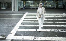 mężczyzna drogi azjatykci skrzyżowanie Obrazy Royalty Free
