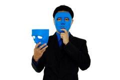 Mężczyzna dwa maski Zdjęcia Royalty Free